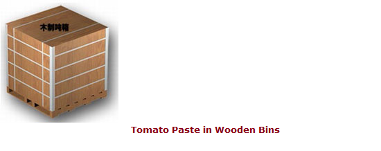 Tomato Paste in Wooden Bins